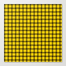 Small Gold Yellow Weave Canvas Print