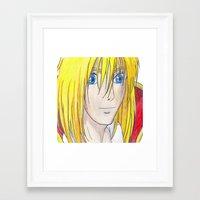 howl Framed Art Prints featuring Howl by ArtByHallie