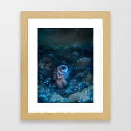 Space biologist Framed Art Print