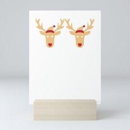 Bra Humbug Reindeer Santa Hat Scrooge Grouch Funny Cool Humor Pun Gift Design Mini Art Print