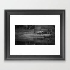 across b&w Framed Art Print