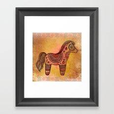 Ceremonial Indian Horse Framed Art Print