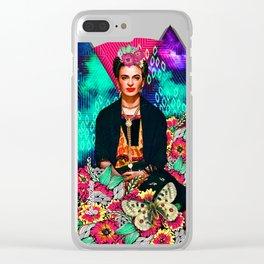 Galaxy Frida Clear iPhone Case