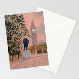 Churchill And Big Ben Stationery Cards