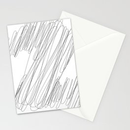 """ Cloud Collection "" - Minimal Number Two Print Stationery Cards"