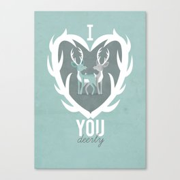 I Love You Deerly Canvas Print