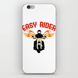 """Easy Rider"" tee design for both cars and motorcycle riders out there! Makes a nice gift too!  iPhone Skin"