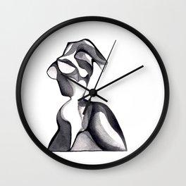 Glass Figure Sculpture Wall Clock