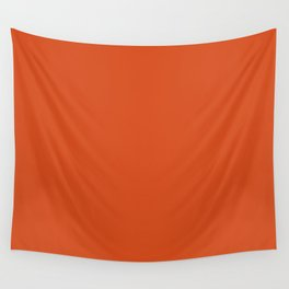 Solid Retro Orange Wall Tapestry