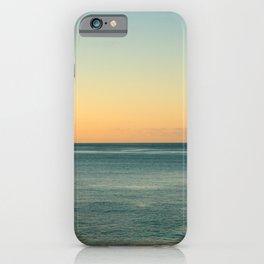 Sunrise and serene ocean iPhone Case