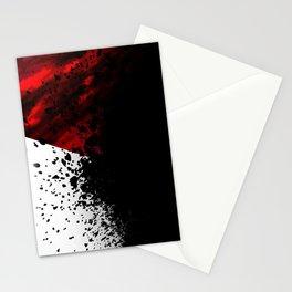 blacknwhitenredallover Stationery Cards