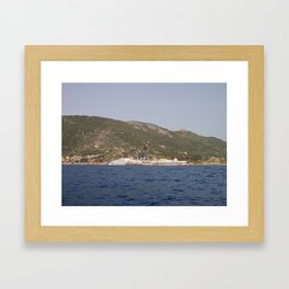 Wreck Of The Costa Concordia Framed Art Print