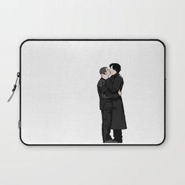 Kissing Sherlock and John Laptop Sleeve