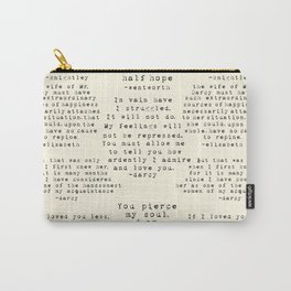 Passion of Jane Austen - Cream Carry-All Pouch