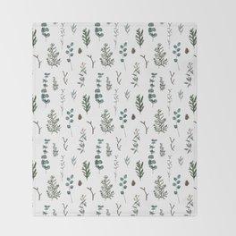 Pine and Eucalyptus Throw Blanket