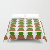 pineapples Duvet Covers featuring Pineapples by Justbyjulie
