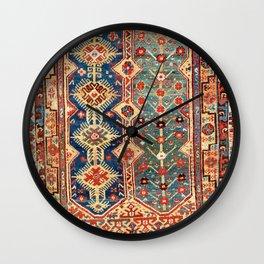 Megri Southwest  Anatolian Rug Print Wall Clock