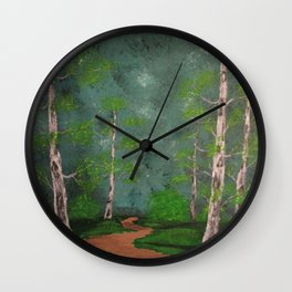 Through The Forest Wall Clock