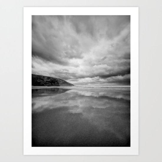 Dark beach Art Print