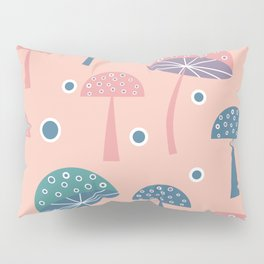 Dancing mushrooms in pink Pillow Sham