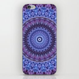 Mandala in violet and blue tones iPhone Skin