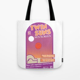 Twin Suns - Sun Screen Tote Bag