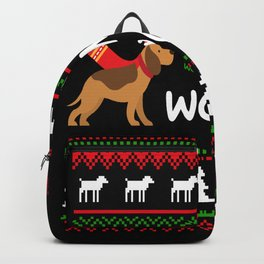 Merry Woofmas Dogs Christmas Puppies Backpack