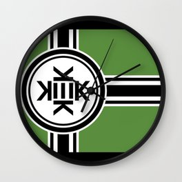 Kekistan flag for kekistani citizens facing normie opression Wall Clock