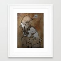 pilot Framed Art Prints featuring Pilot by Captain MaryJane