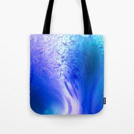 Blue Splash Abstract Tote Bag