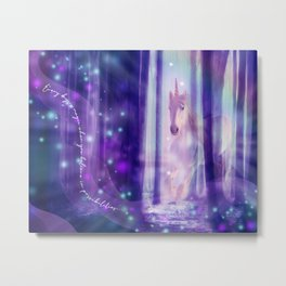 Transcendent Unicorn Metal Print