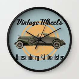 Vintage Wheels: Duesenberg SJ Roadster Wall Clock