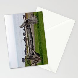 Driftwood Fence and the Sea Stationery Cards