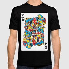 King Of Spades Black Mens Fitted Tee LARGE