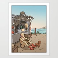 Waiting for the Wind Art Print