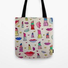 Lipstick & Lips Tote Bag