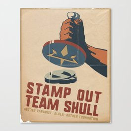 Stamp Out Team Skull Canvas Print