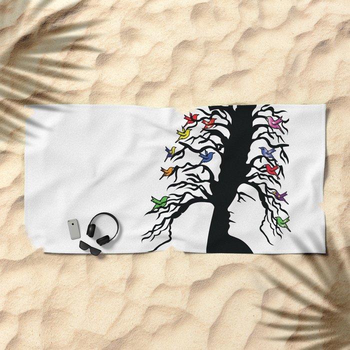 tree Beach Towel