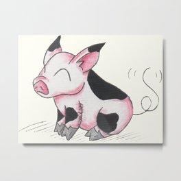 Pudgy Piglet Metal Print