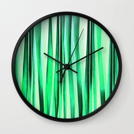 Turquoise Serenity Stripy Pattern Wall Clock