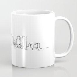 Boston Skyline Drawing Coffee Mug