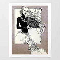 Vintage lady#3 Art Print