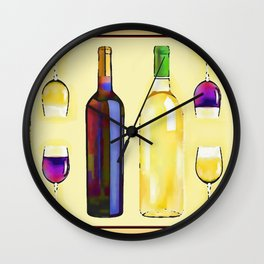 Let's Have Some Wine Wall Clock
