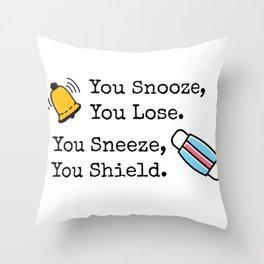 Snooze/Sneeze Throw Pillow