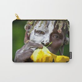 Suri woman with flower Carry-All Pouch