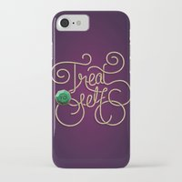 treat yo self iPhone & iPod Cases featuring Treat Yo Self by Nana Adwoa Sey