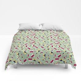 Crisscross Butterflies - Pistachio Color Comforters