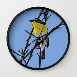 Yellow-breasted Chat Wall Clock