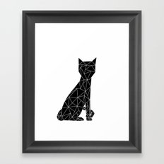 Eleven Quads Cat Framed Art Print