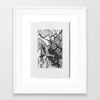 hobbit Framed Art Prints featuring The Hobbit by Louise Hubbard